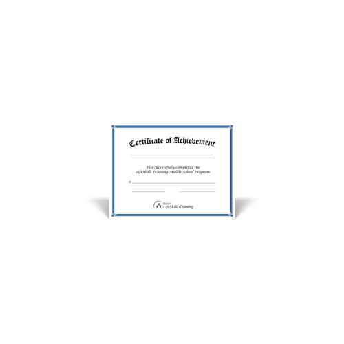 Middle School Certificates - 10 pack | Botvin LifeSkills ...